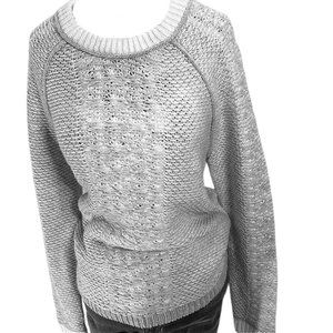 Lord & Taylor Grey/White Sweater